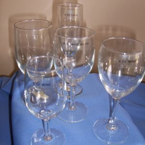 Goblet, Wine, and Flute Glasses