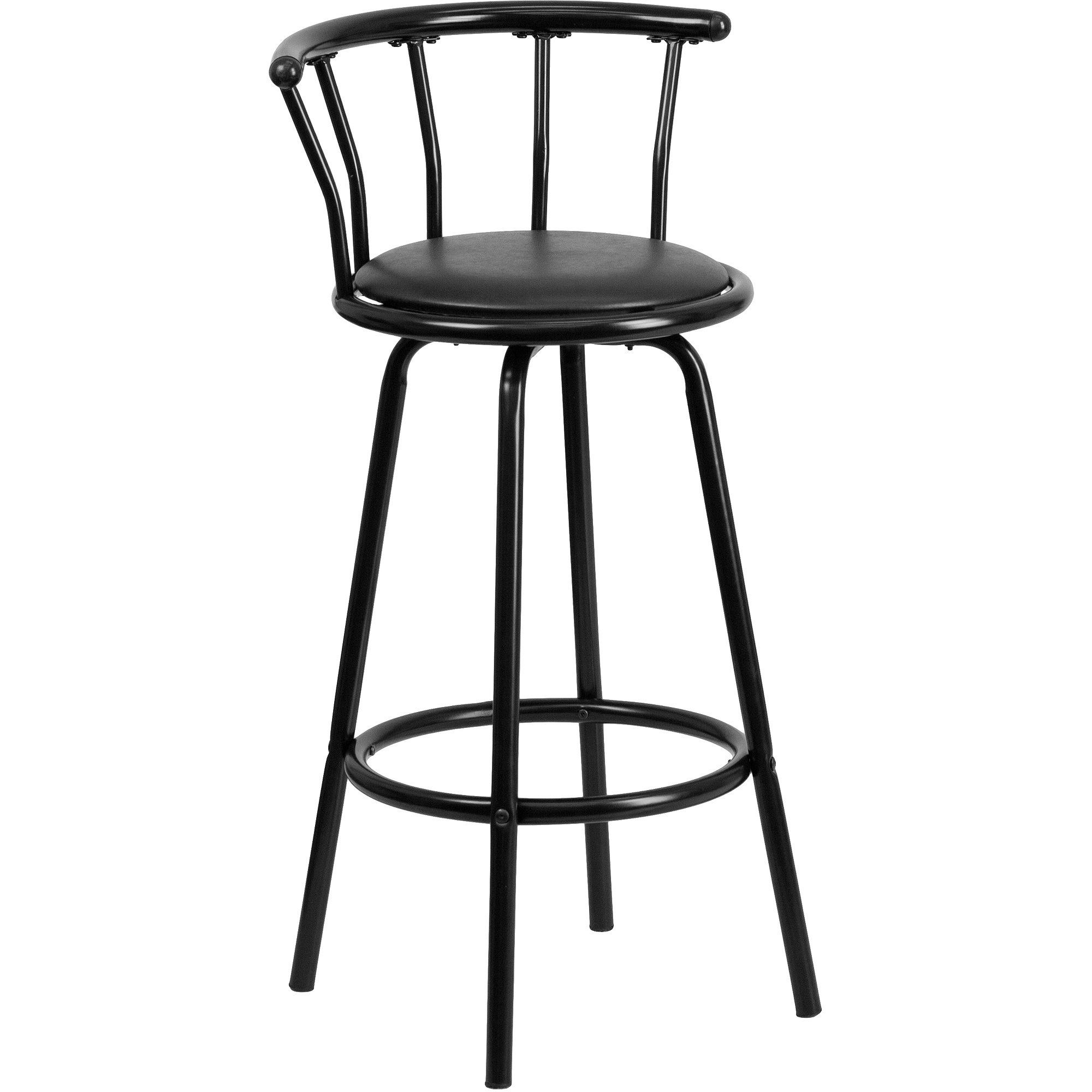 Black Barstool With Back