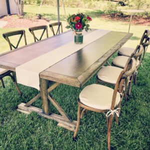 Farm Tables & X-Back Chairs