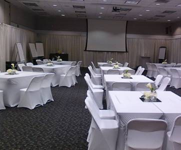 The Alleen Company & Pipe and drape with spandex table cloths and chair covers ...