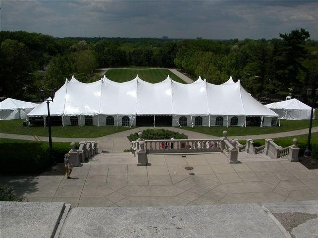 Dining tent with attached catering tents for Cincinnati gala & Dining tent with attached catering tents for Cincinnati gala | The ...