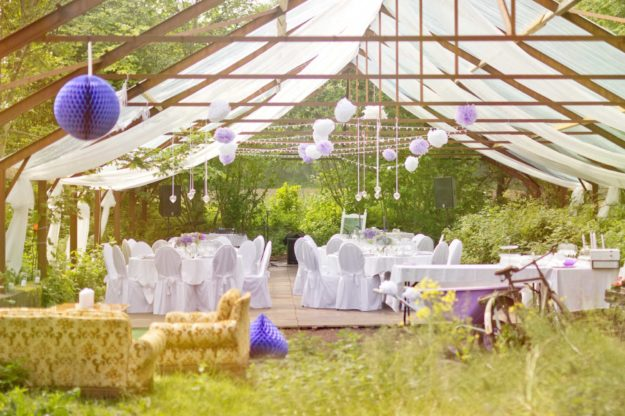 Outdoor wedding planned by an event planner