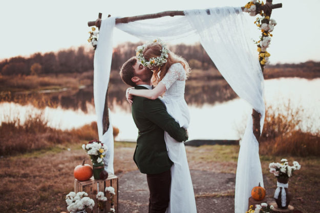 Rustic fall themed wedding