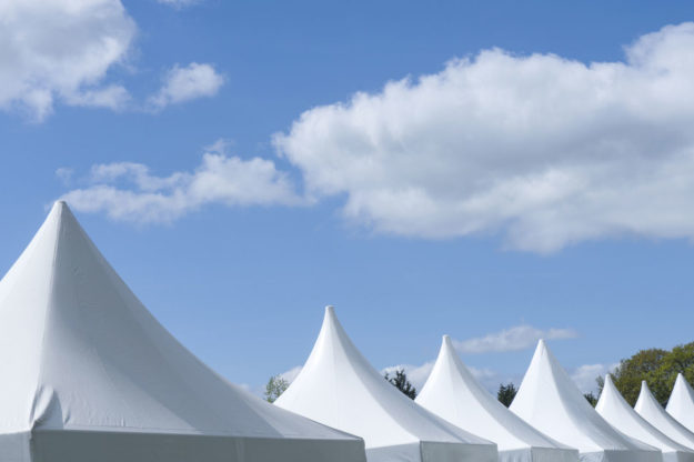 A row of tents